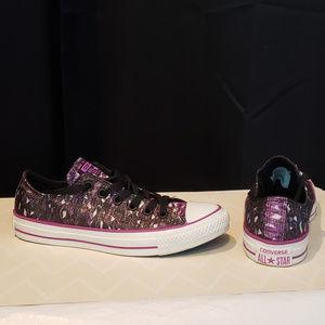Converse All Star Purple/Black/Silver metallic - 7